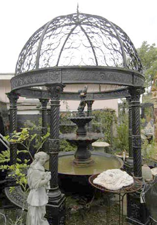 Cast Iron Victorian Gazebo New Orleans Louisiana